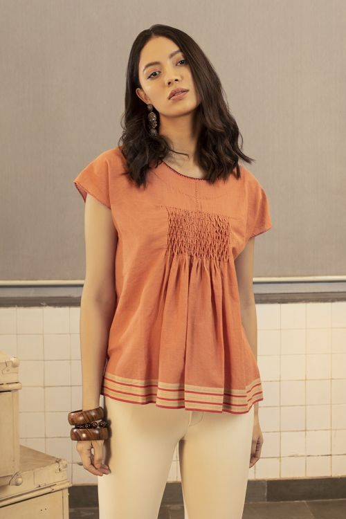 Roland Smocked Top