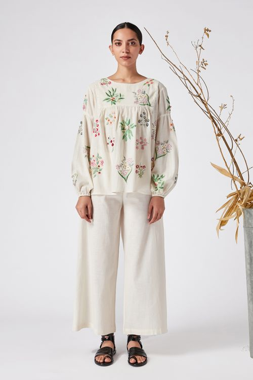 Spicata Embroidered Top