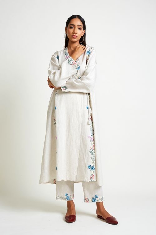 Iceplant Embroidered Set