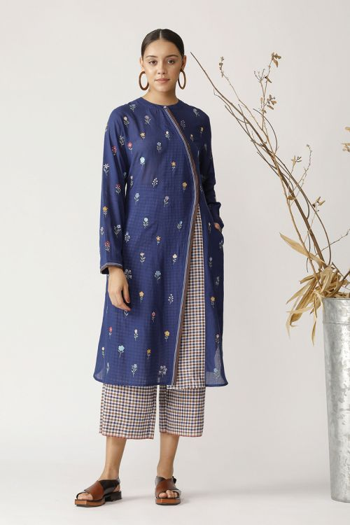 Ginkgo Multi embroidered tunic