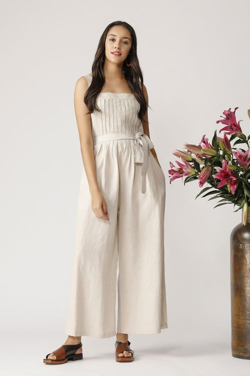Pleated Stappy Jumpsuit