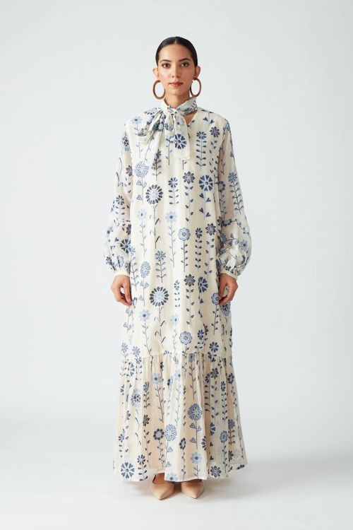 Erina Embroidered Long Dress