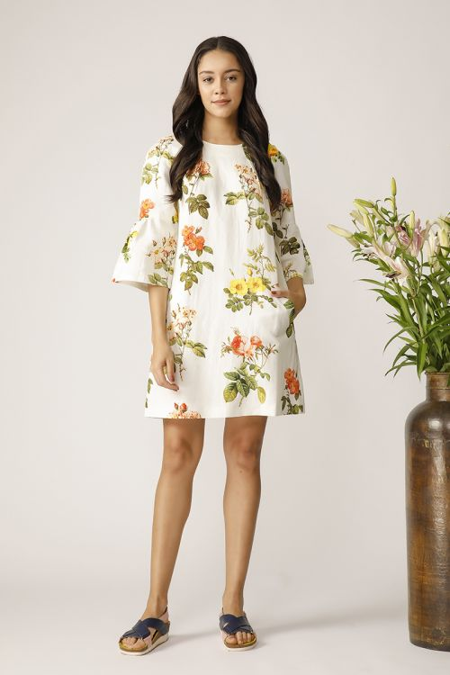 NETTED FLORAL DRESS