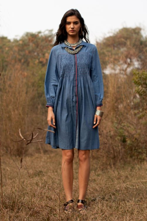 Keith smocked Tunic
