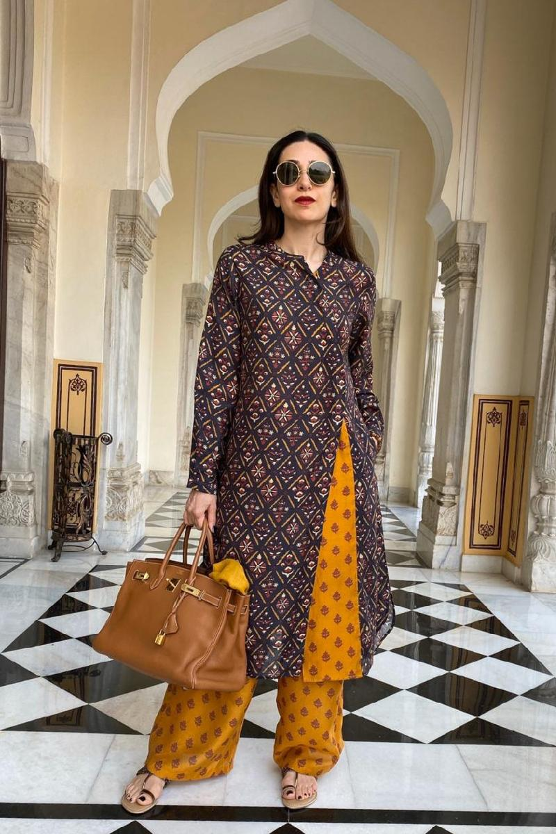 Karisma Kapoor in our printed tunic with pants