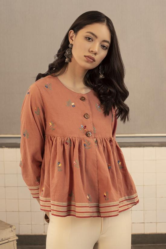 Blakey Embroidered Top