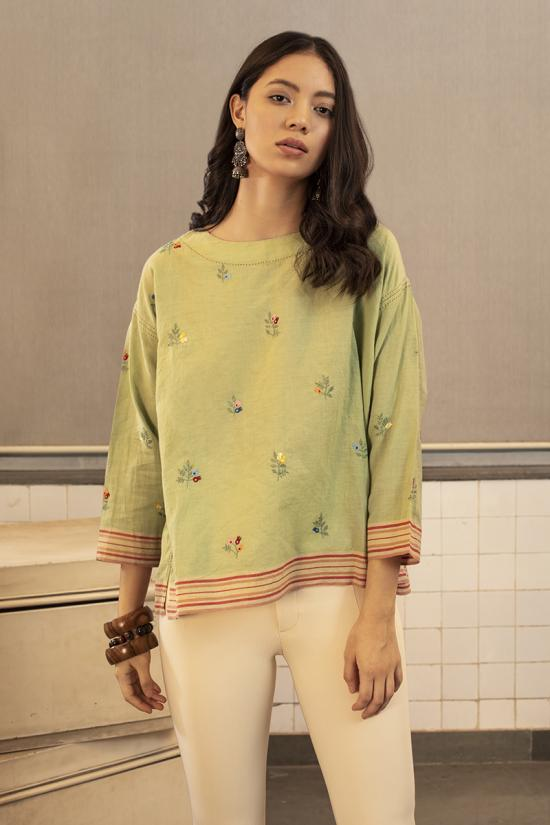 Krall embroidered top