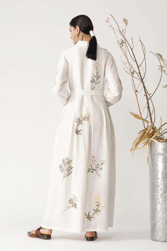 Oak Collared twig embroidered dress