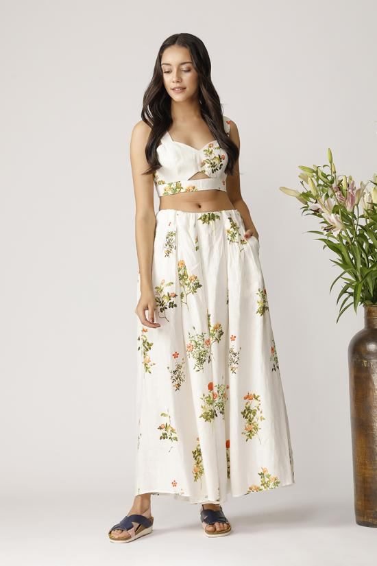 WISTERIA PRINTED BUSTIER
